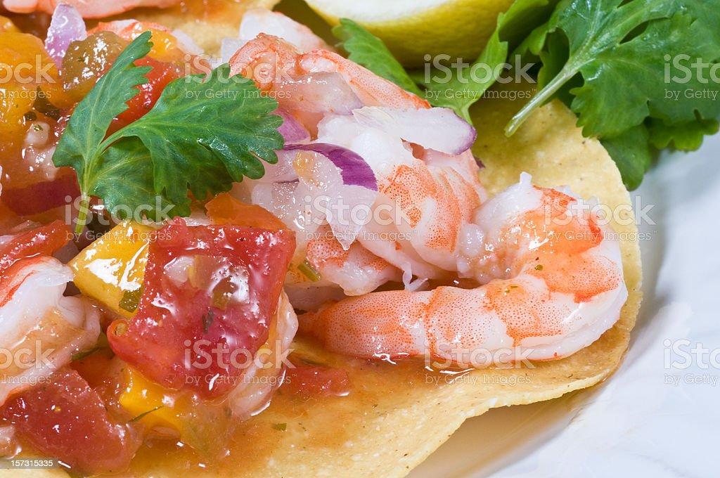 Shrimp Ceviche Tostada royalty-free stock photo