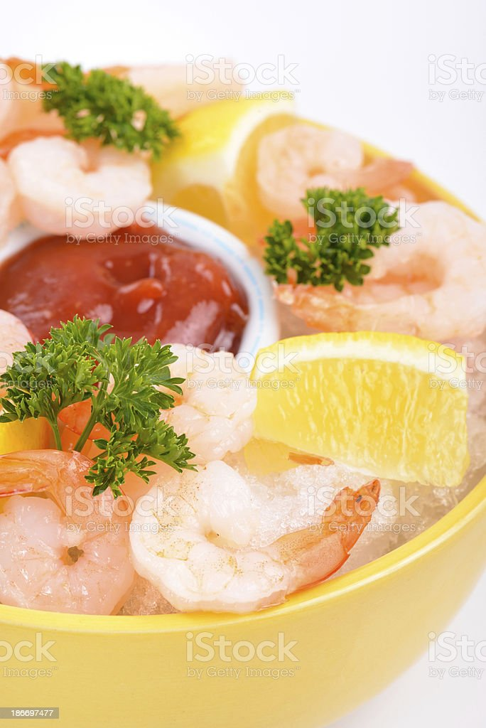 Shrimp Cocktail Appetizer royalty-free stock photo