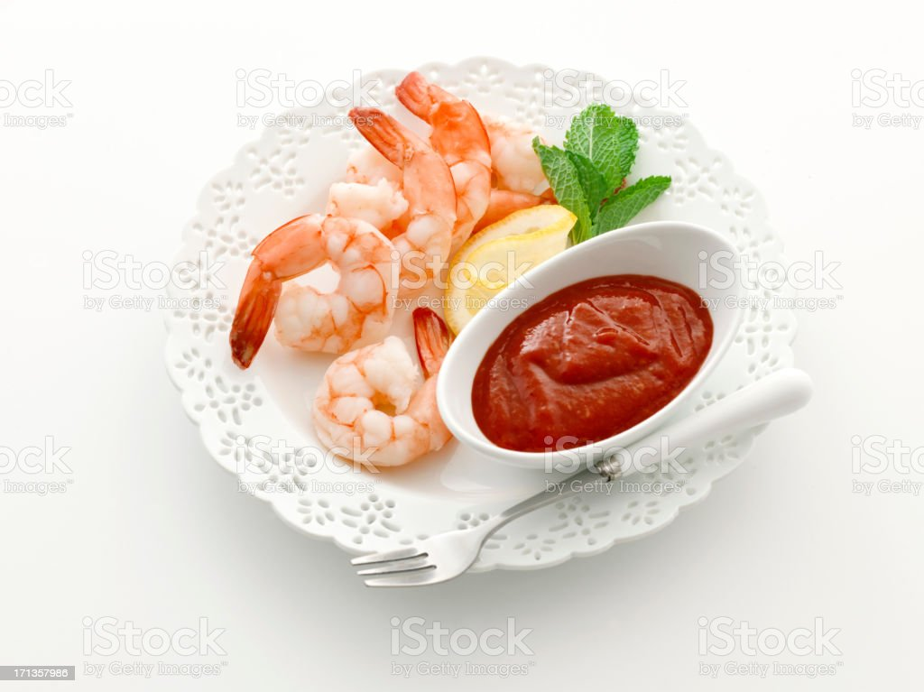 shrimp cocktail classic stock photo