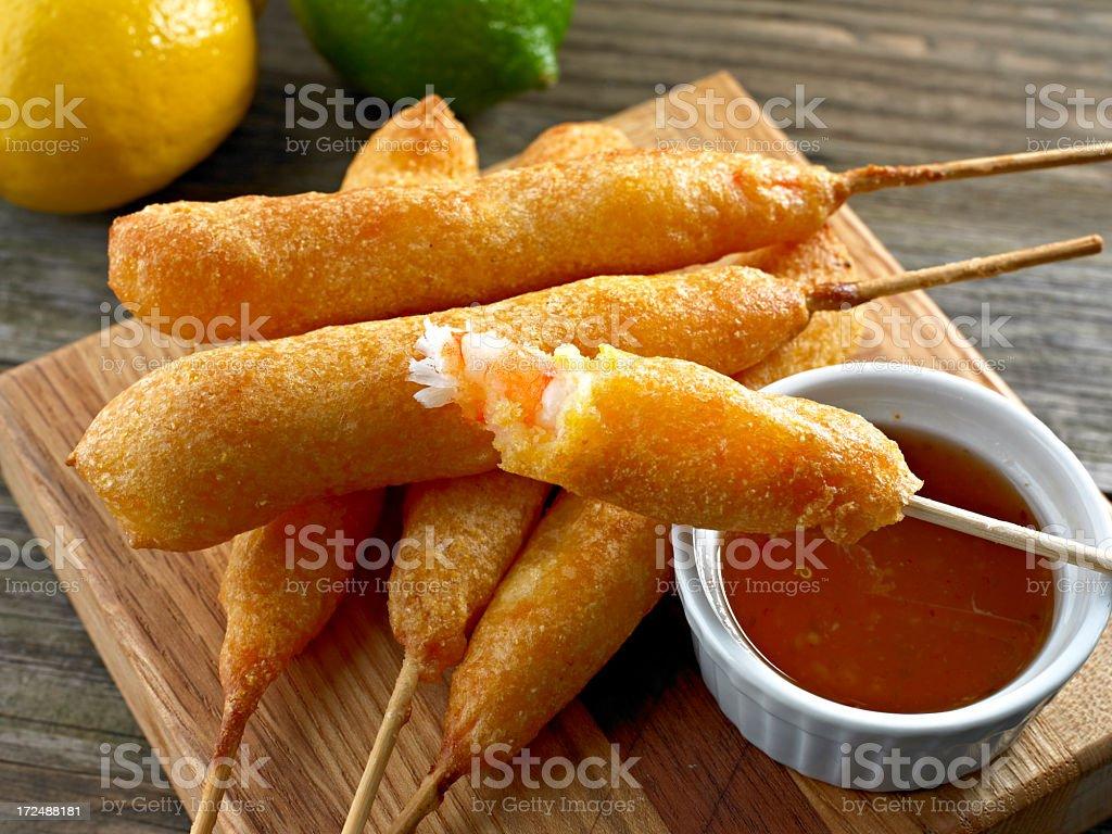 Shrimp Corn Dog stock photo