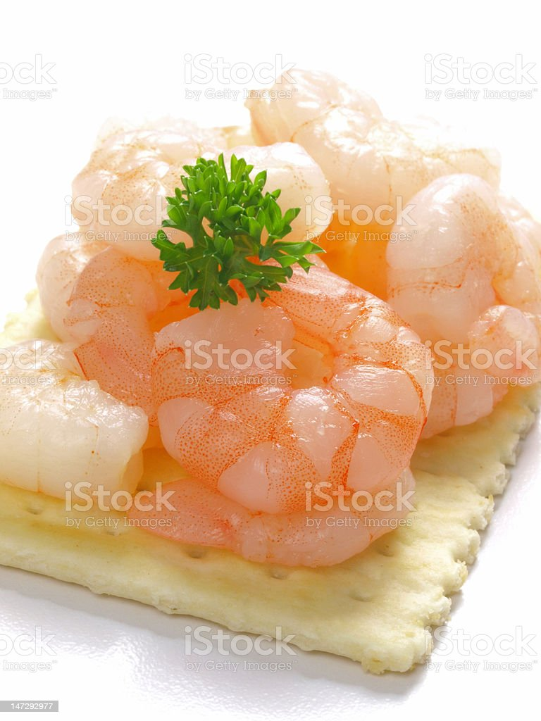 shrimp cracker snack stock photo