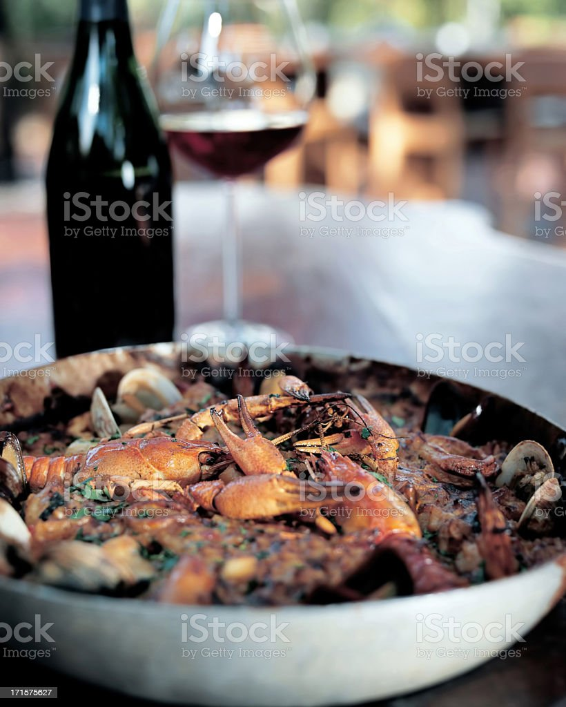 Shrimp dish stock photo