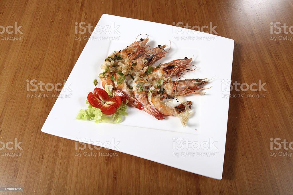 shrimp dish royalty-free stock photo