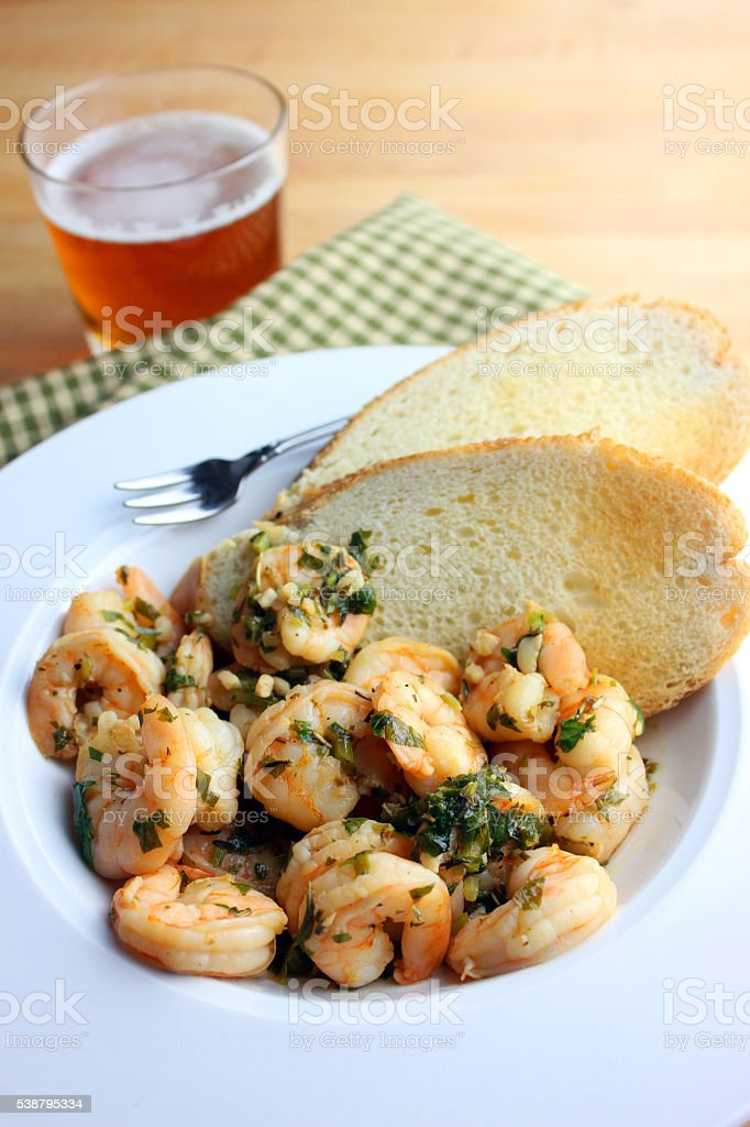 Shrimp Dish stock photo