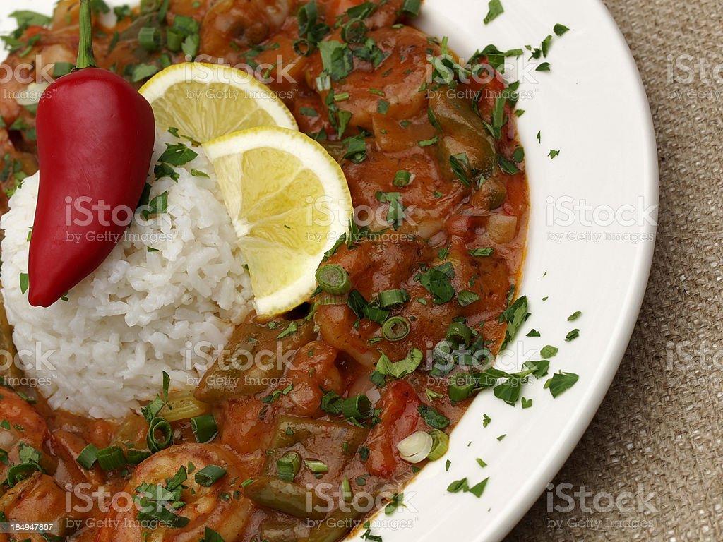 Shrimp Etouffee stock photo