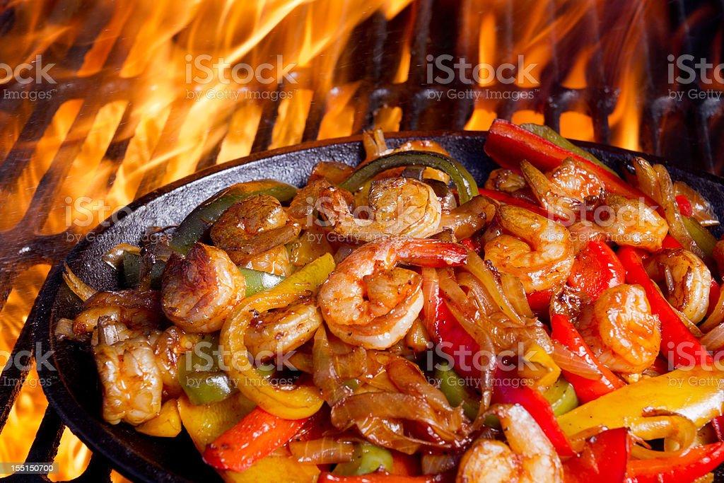 Shrimp Fajitas royalty-free stock photo
