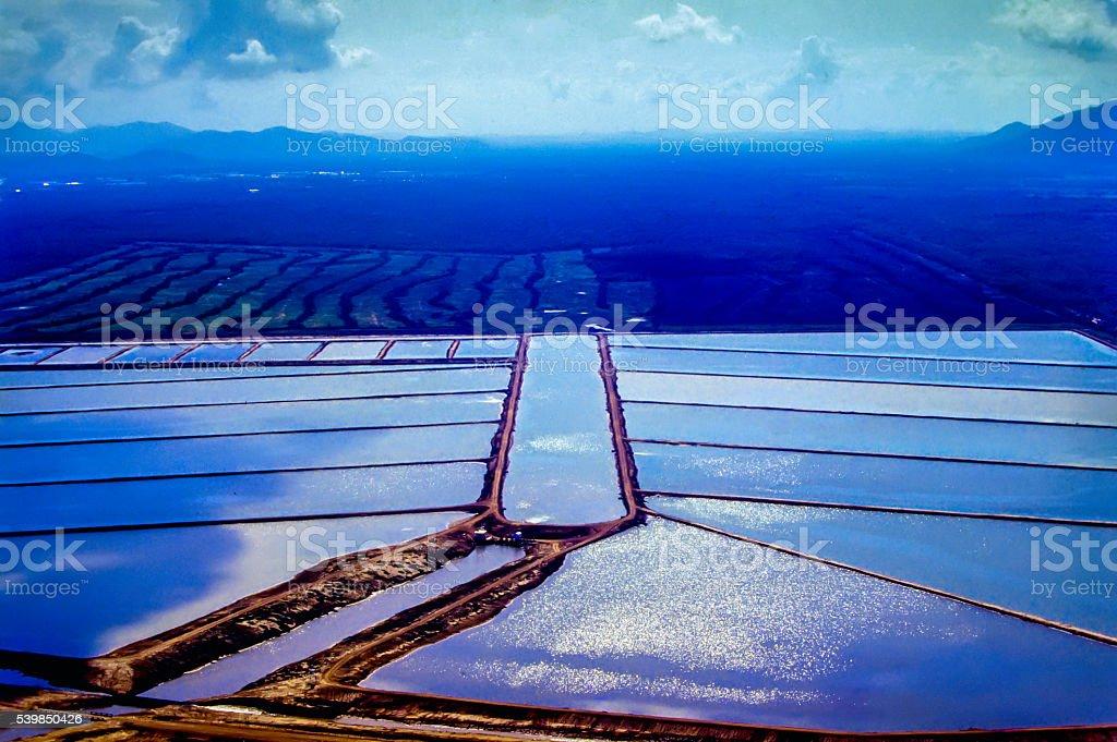 Shrimp farm stock photo