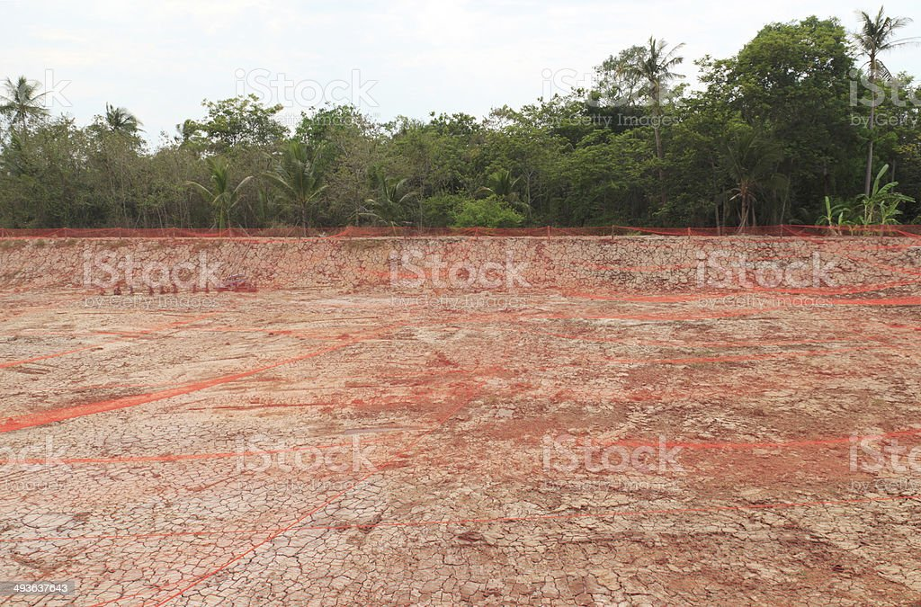 Shrimp farming stock photo
