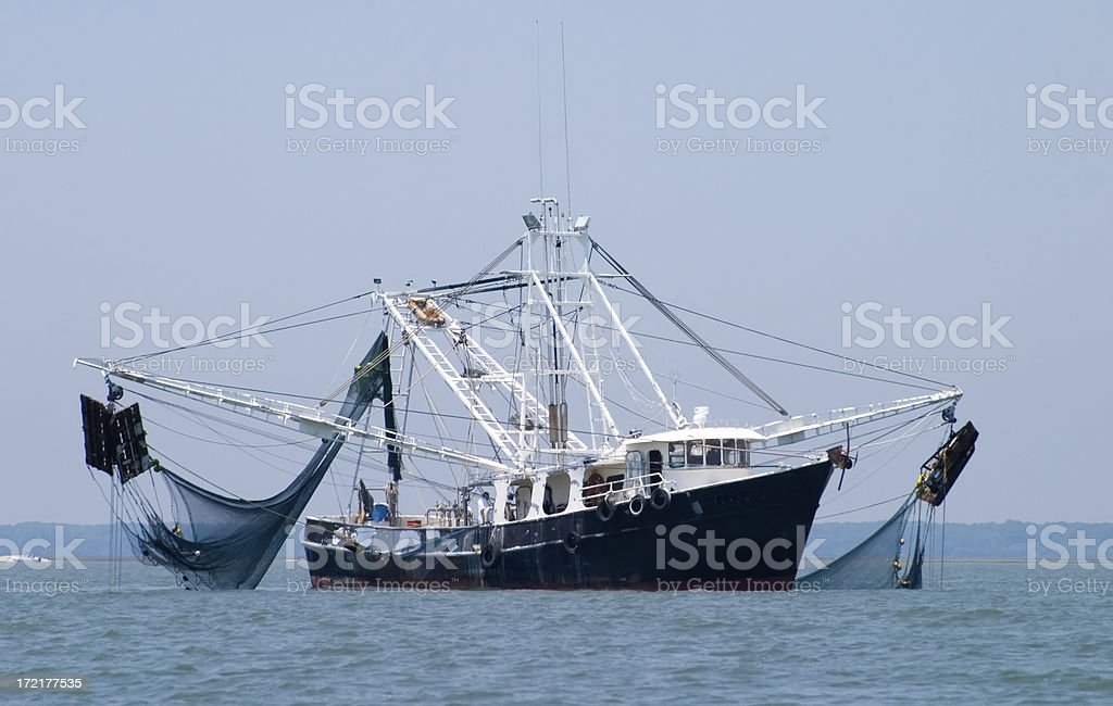 Shrimp Fishing Boat stock photo