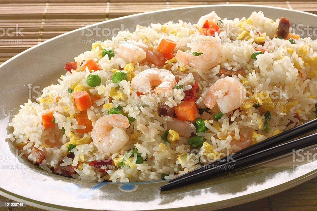 Shrimp fried rice stock photo