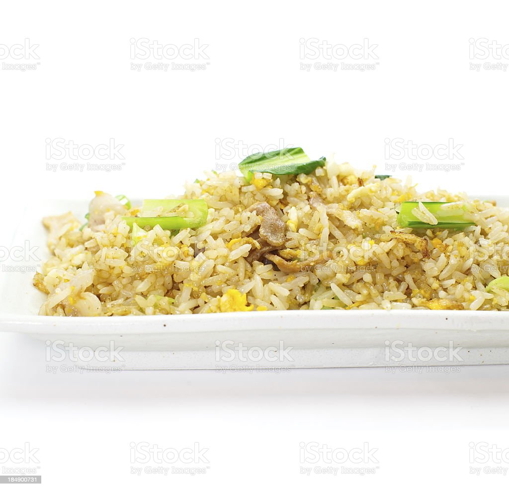 Shrimp fried rice royalty-free stock photo