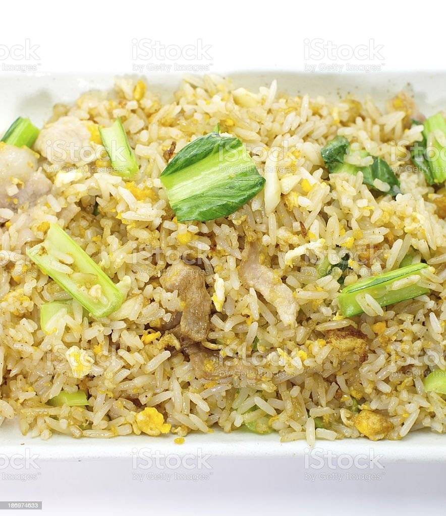 Shrimp fried rice royalty-free stock photo