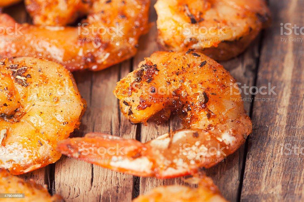Shrimp grilled stock photo