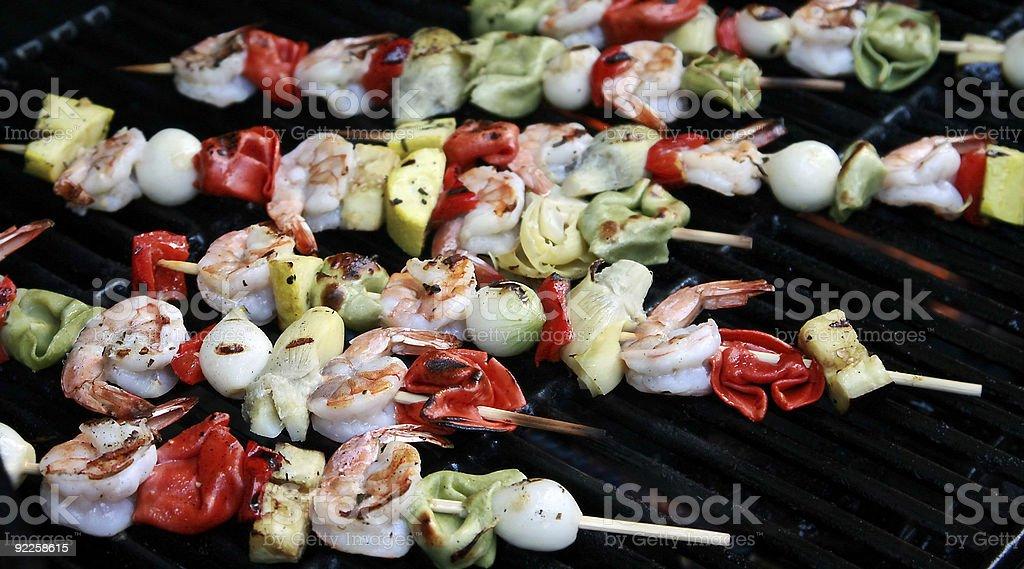 Crevettes kebabs II photo libre de droits