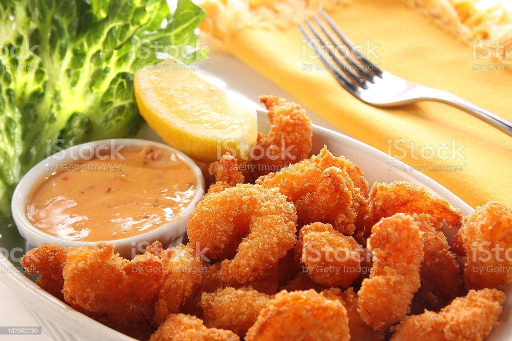 Shrimp meal. stock photo
