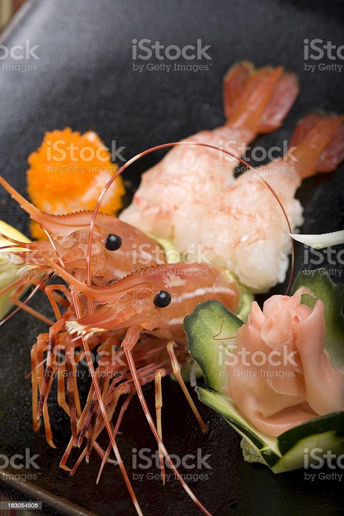 Shrimp Nigiri royalty-free stock photo