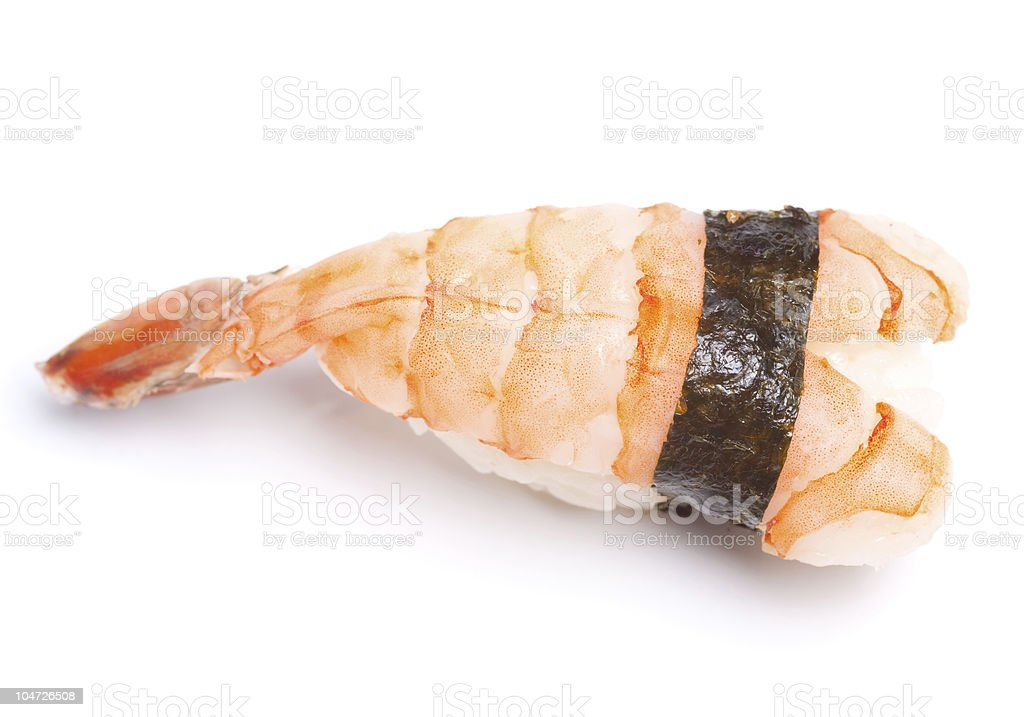 Shrimp nigiri sushi royalty-free stock photo