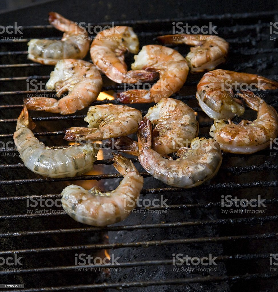 shrimp on the barbie too royalty-free stock photo