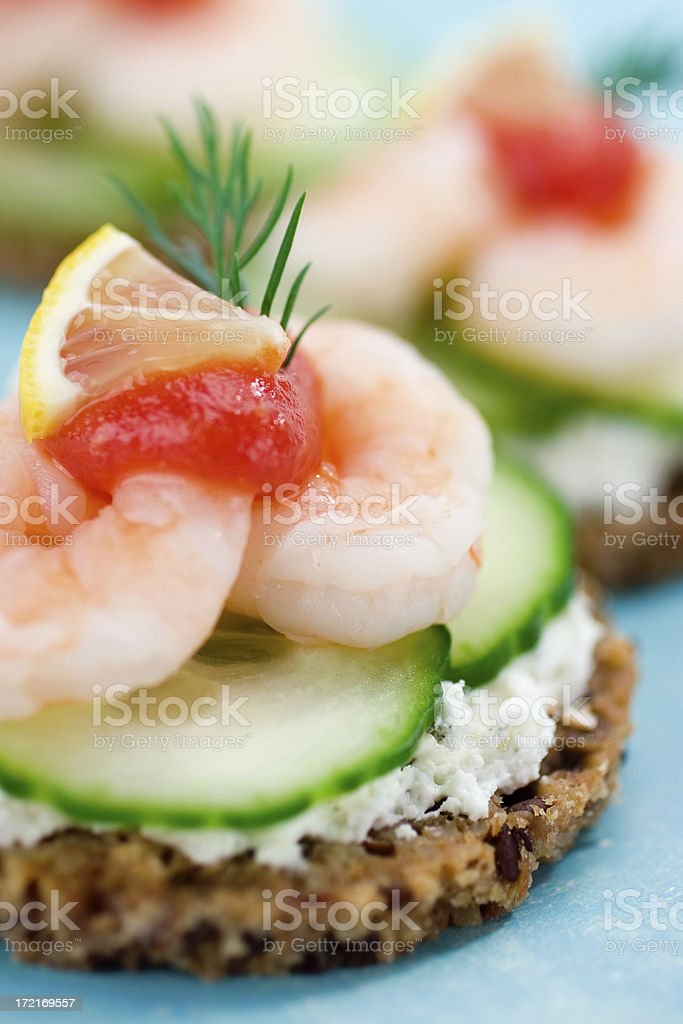 Shrimp on Toast royalty-free stock photo