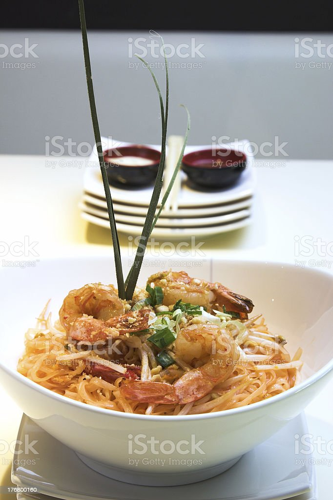 Shrimp Pad Thai royalty-free stock photo