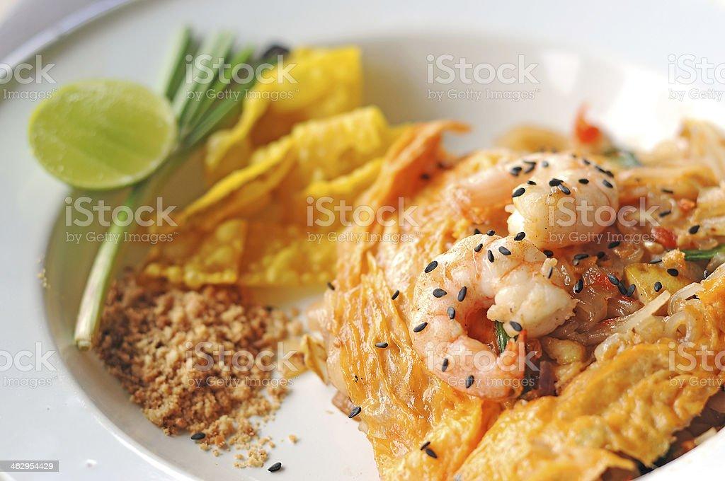 Shrimp Pad Thai,Food. stock photo