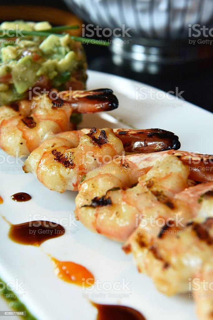 BBQ Shrimp stock photo