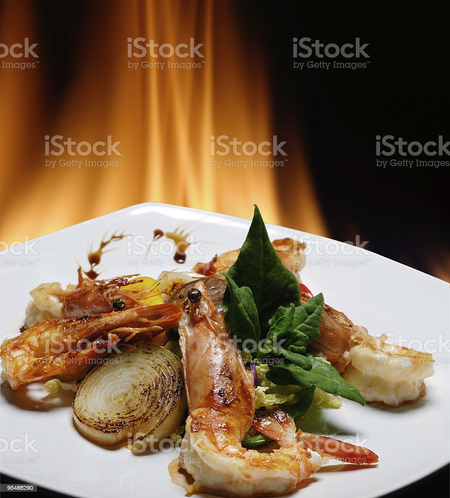 shrimp royalty-free stock photo