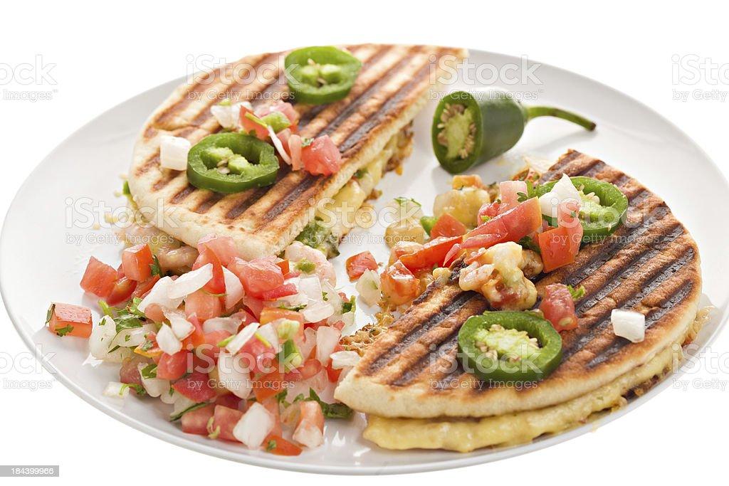 Shrimp quesadilla royalty-free stock photo