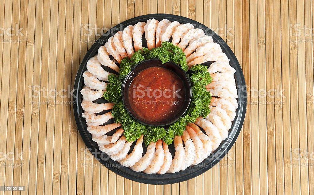 Shrimp Ring Appetizer stock photo