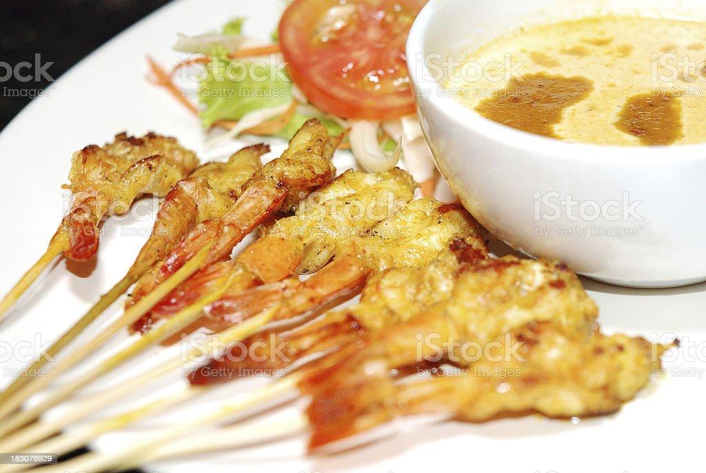 shrimp satay royalty-free stock photo