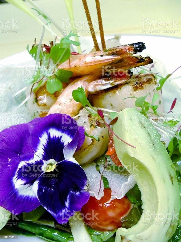 Shrimp & Scallop Salad royalty-free stock photo
