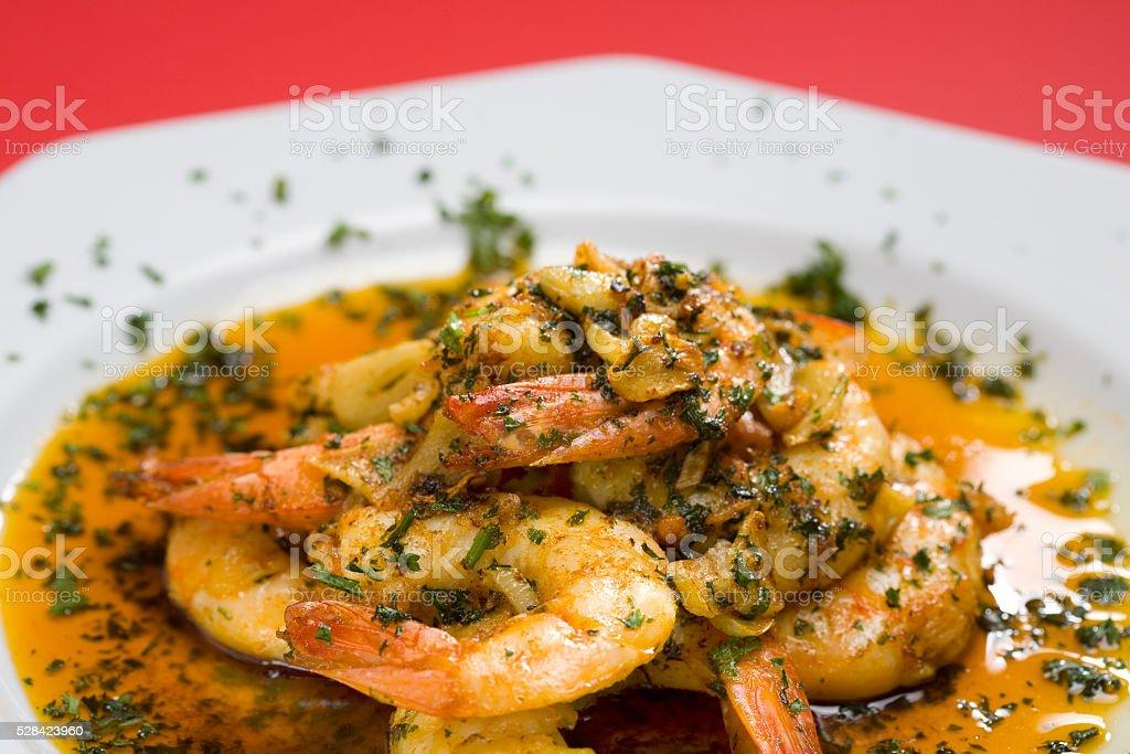 Shrimp Scampi stock photo