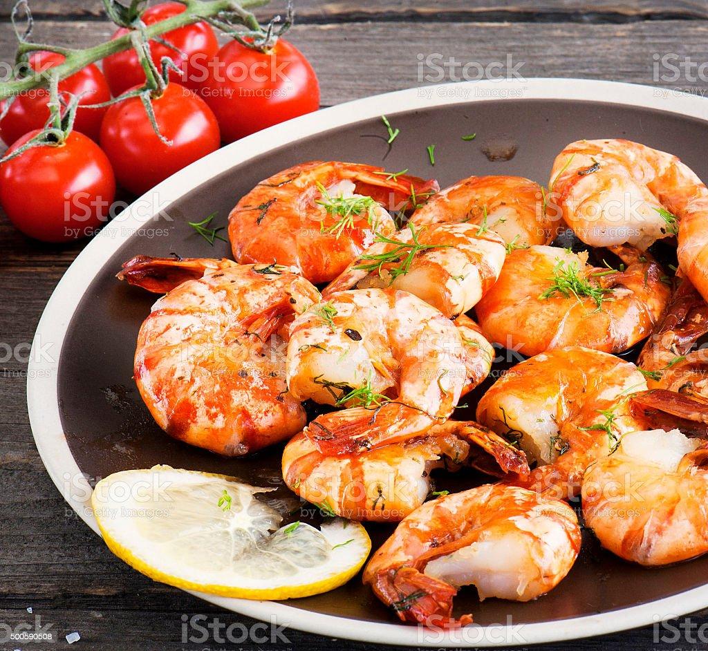 Shrimp sea food stock photo
