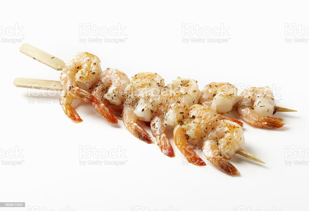 Shrimp Skewers royalty-free stock photo