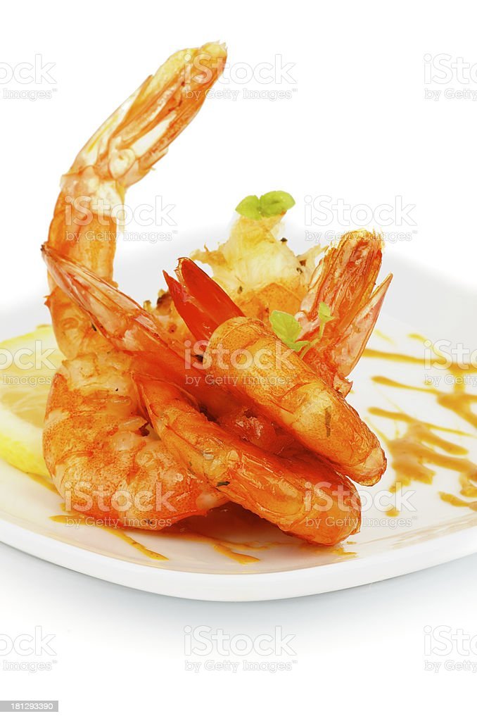 Shrimp Snack royalty-free stock photo
