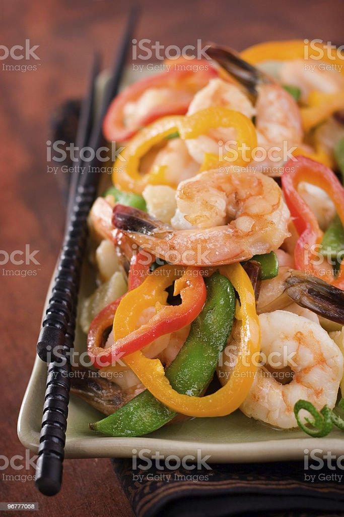 Shrimp Stir Fry royalty-free stock photo