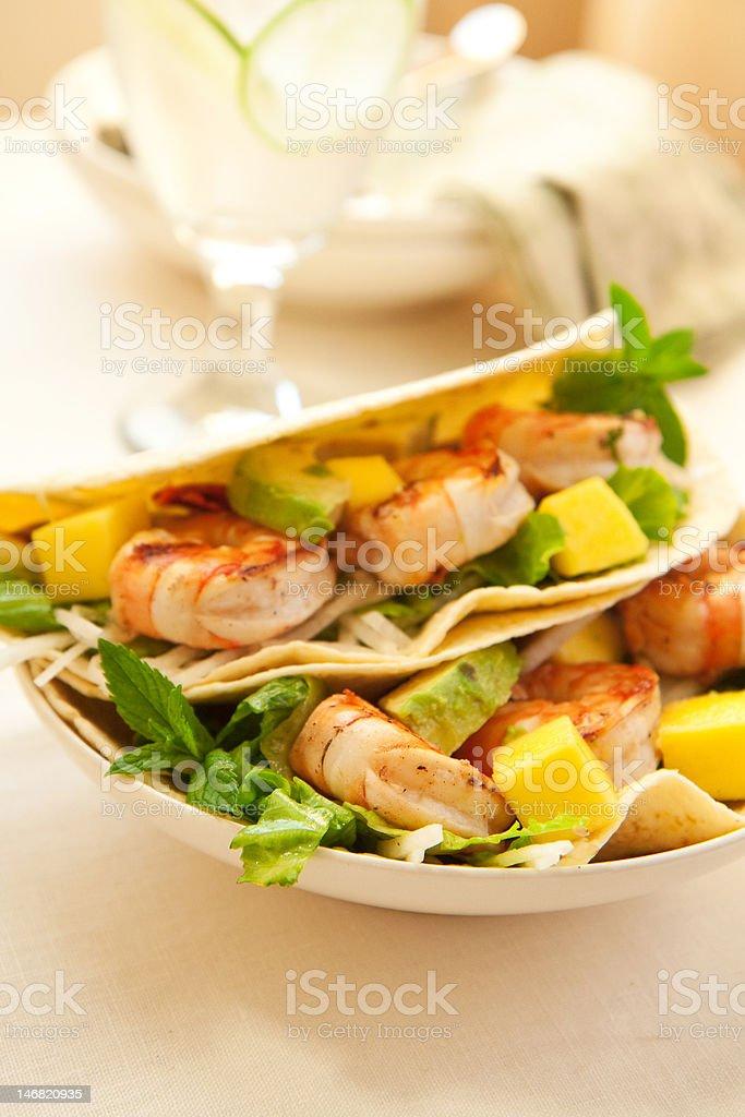Shrimp Taco stock photo