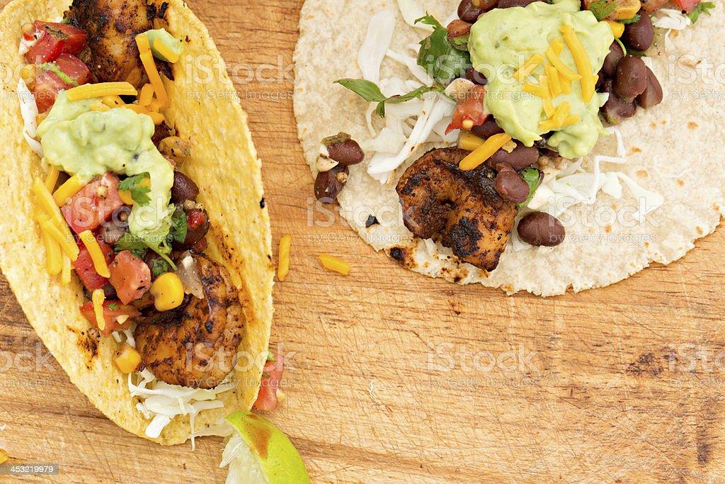 Shrimp Tacos royalty-free stock photo