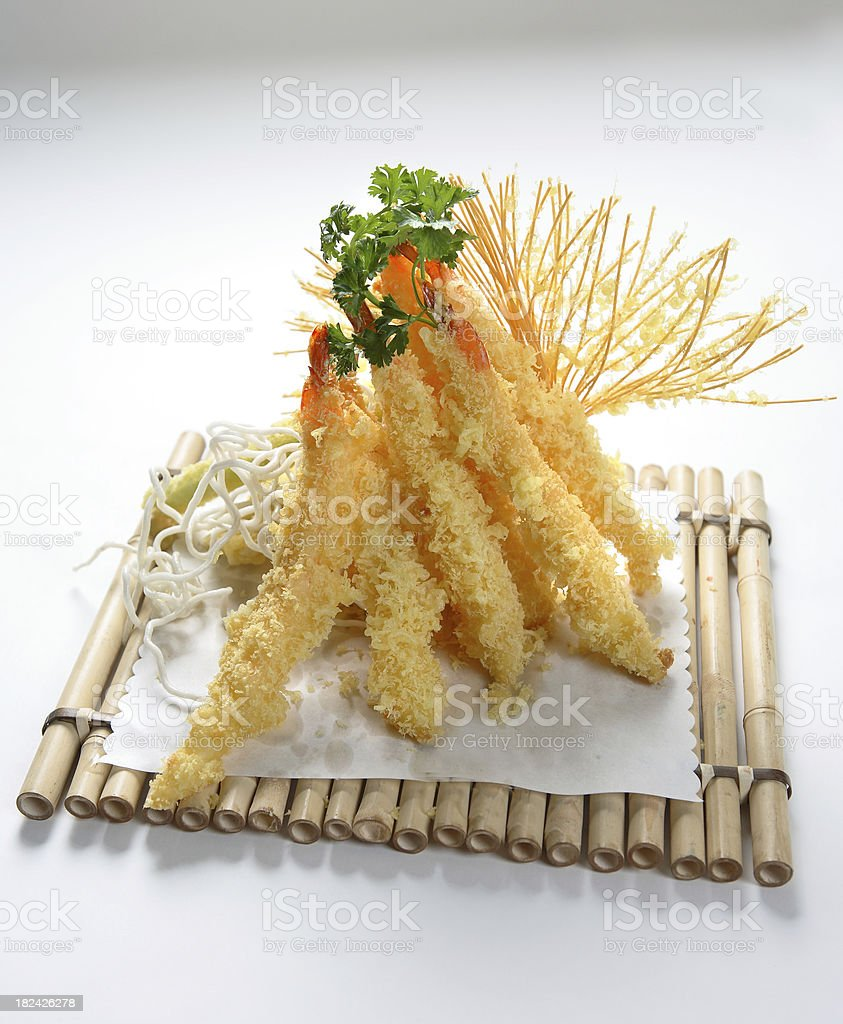 Shrimp Tempura royalty-free stock photo