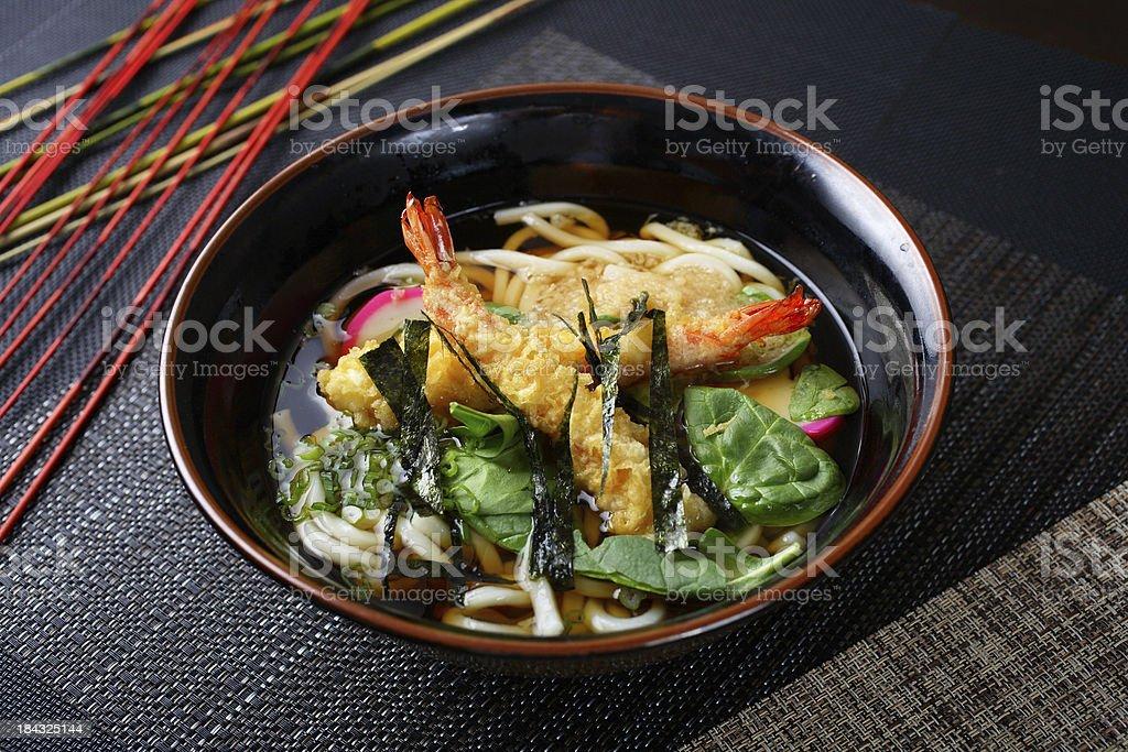 Shrimp Tempura Udon stock photo