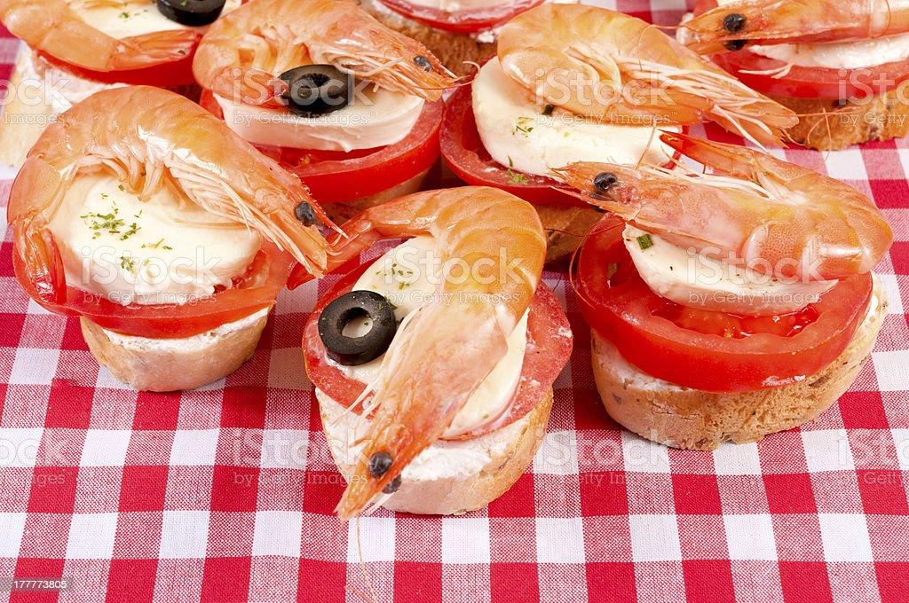 Shrimp time royalty-free stock photo