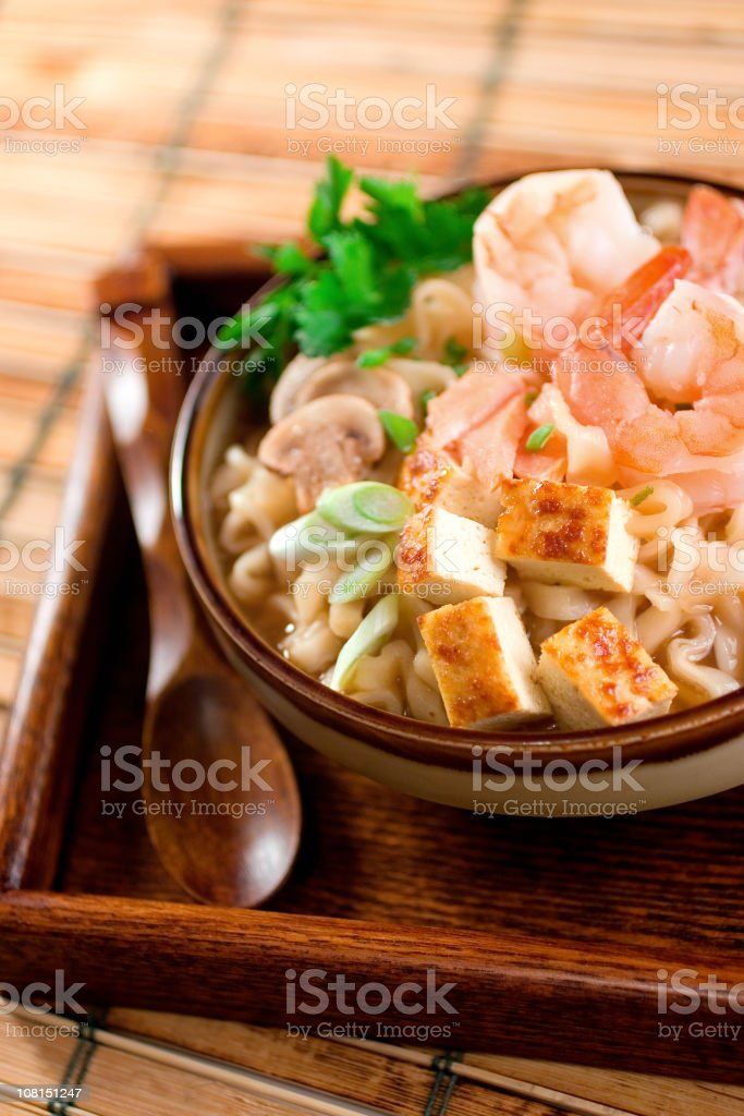 Shrimp Udon Noodles stock photo