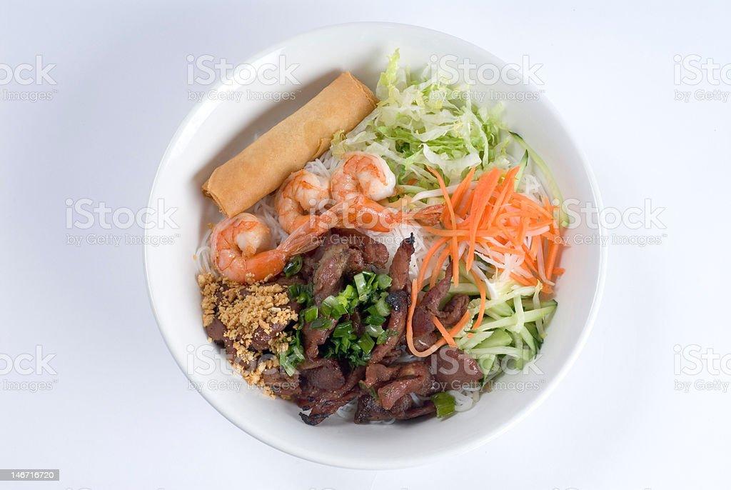 shrimp vegetable bowl stock photo