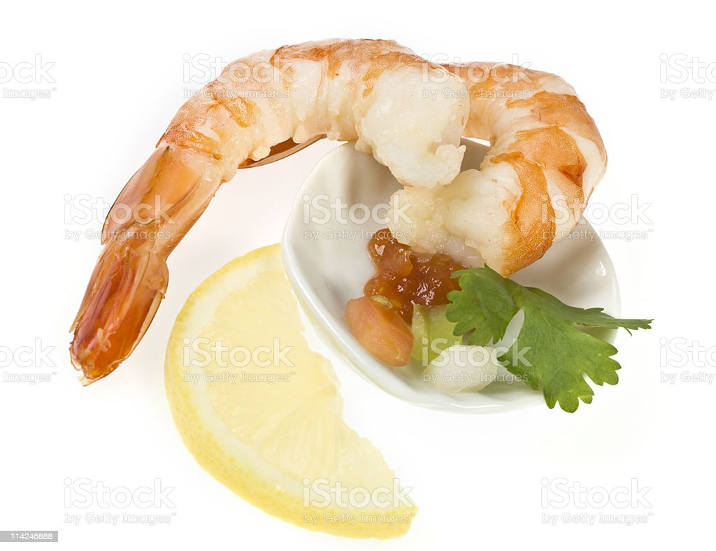 Shrimps appetizer royalty-free stock photo