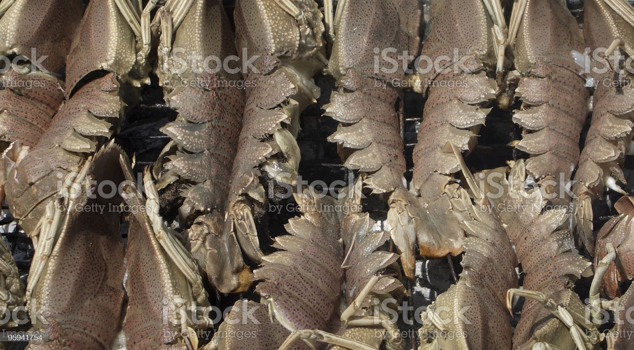 Shrimps barbecue royalty-free stock photo