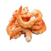 Shrimps isolated on white background