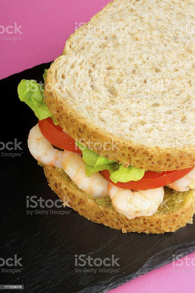 Shrimps sandwich royalty-free stock photo