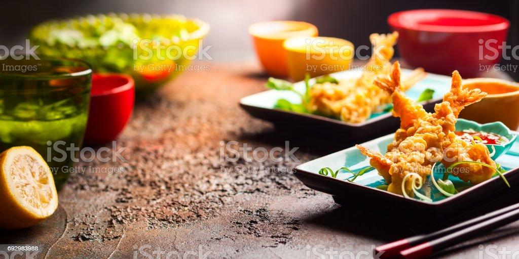 Shrimps tempura stock photo