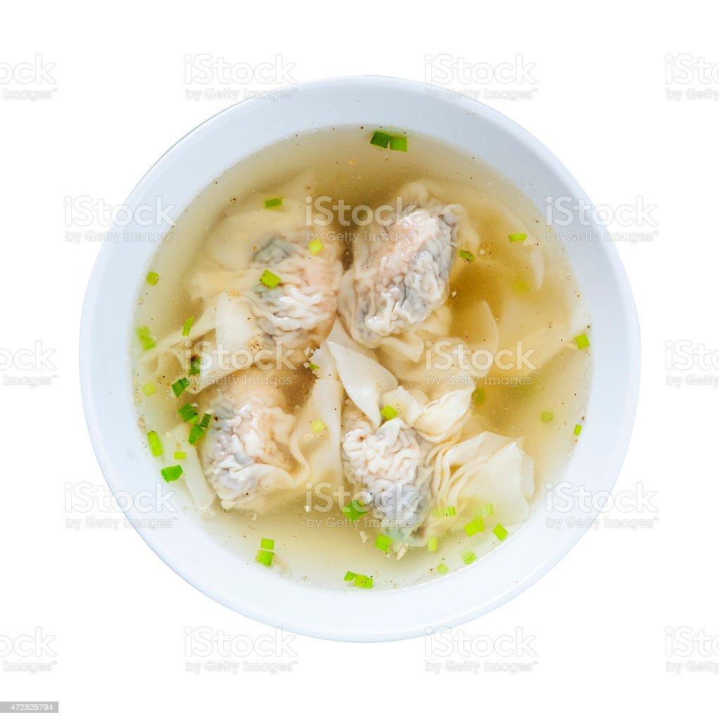 Shrimps Wonton Soup stock photo