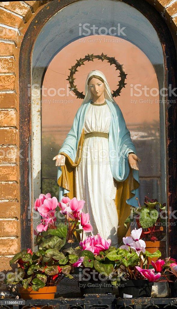 Shrine Dedicated to Mary stock photo